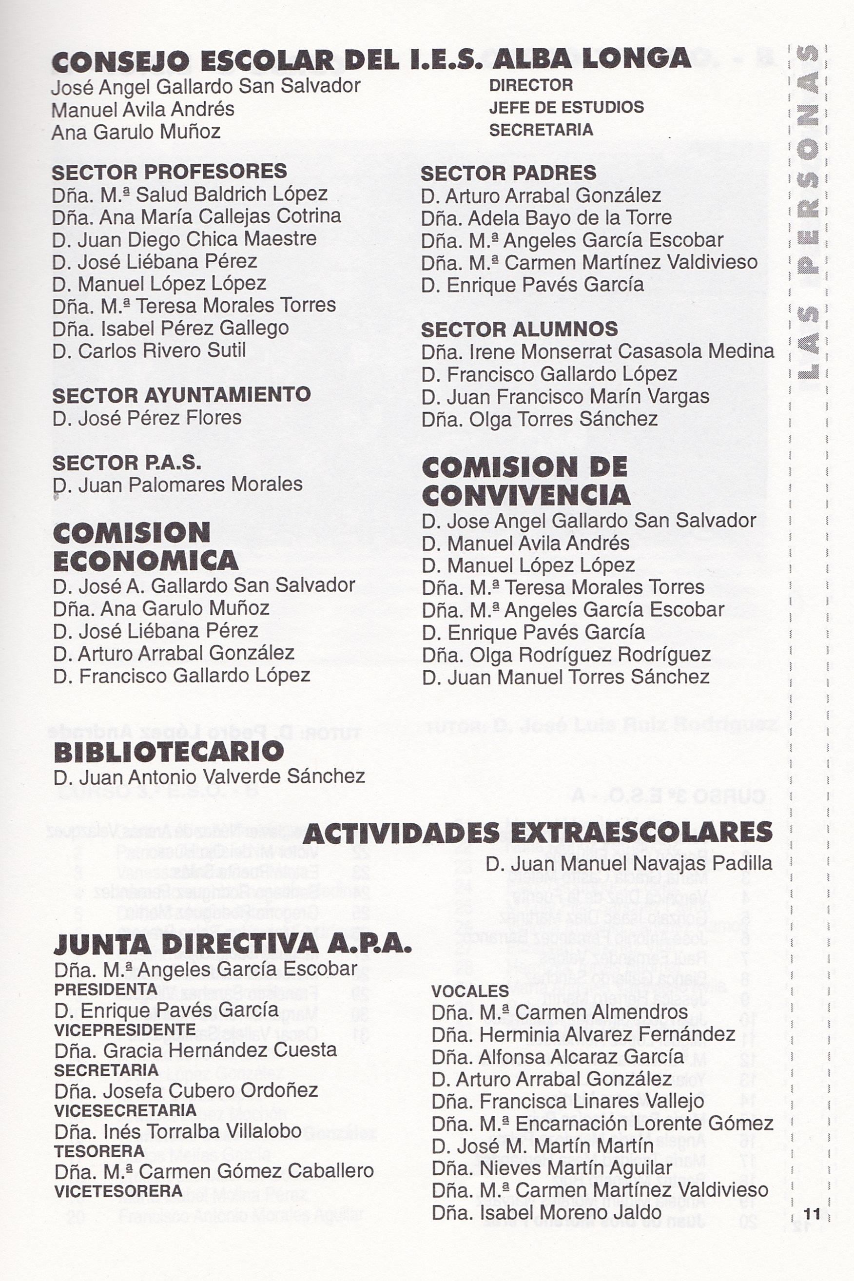Dirección CE y  APA