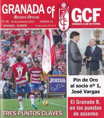 Con la angustia de ganar no se gana. Portada de la Revista Oficial del GCF.