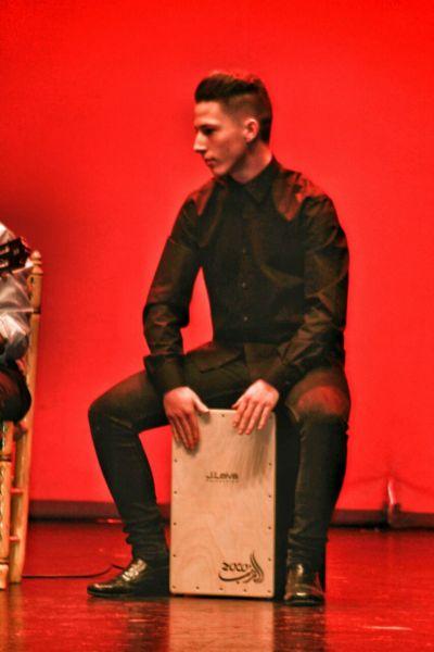 También hubo un espacio para el flamenco.