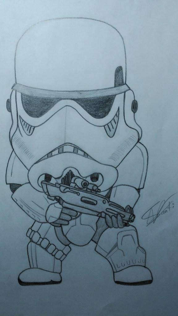 """""""Stormtrooper de frente. Lo hice hace dos años, No es de mis preferidos, pero me gusta"""" (Santiago)."""