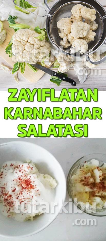 Zayıflatan Karnabahar Salatası TARİFİ