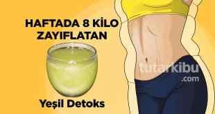 8 Kilo zayıflatan yeşil detoks tarifi