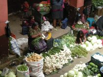 Vegetable sellers in the Chichicastenango market. Photos by Barbara Borst