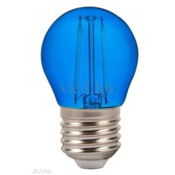 2W Filament G45 Dekor Led Izzó E27 Kék