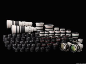 Gamme d'objectif reflex canon