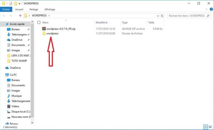 Extrayez le fichier archive !