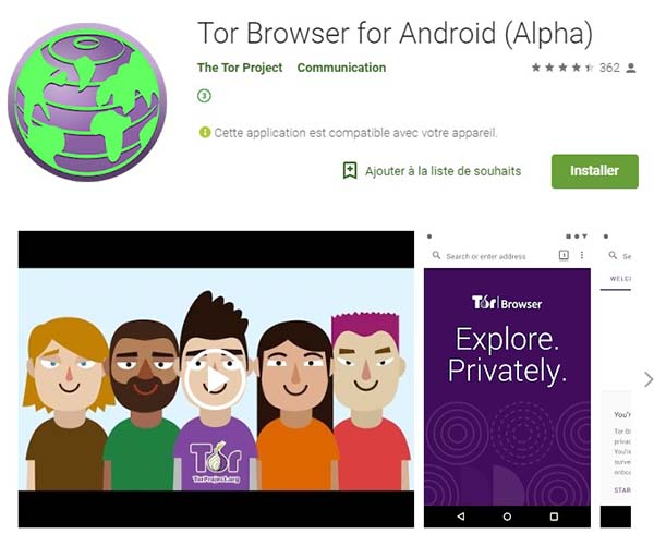 Telecharger Tor Browser sur Google Play