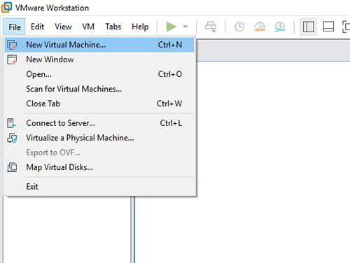Créez une VM dans VMware !