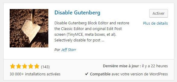 Activez Gutenberg !
