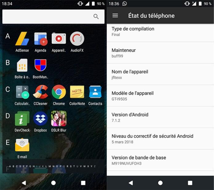 Profitez de Android Nougat 7.1.2 sur votre Galaxy S4