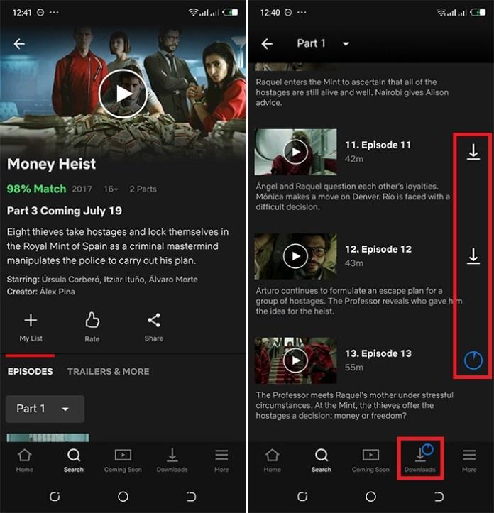Téléchargement des vidéos Netflix sur Android