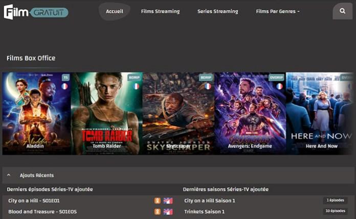 Le site de streaming gratuit FilmGratuit !