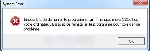 Wamp : il manque MSVCR110 sur votre ordinateur