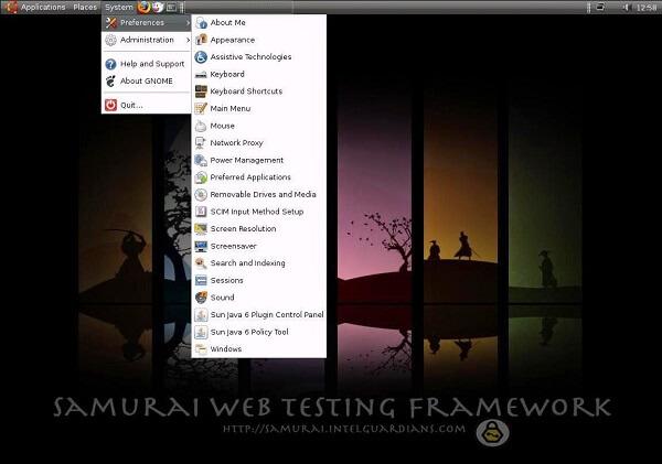 Samurai Web Testing Framework - système d'exploitation pour hacker