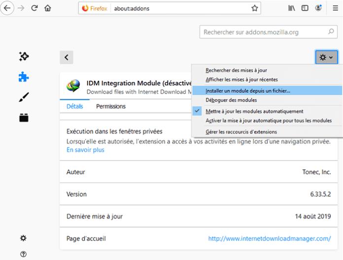 Intégration du Module IDM