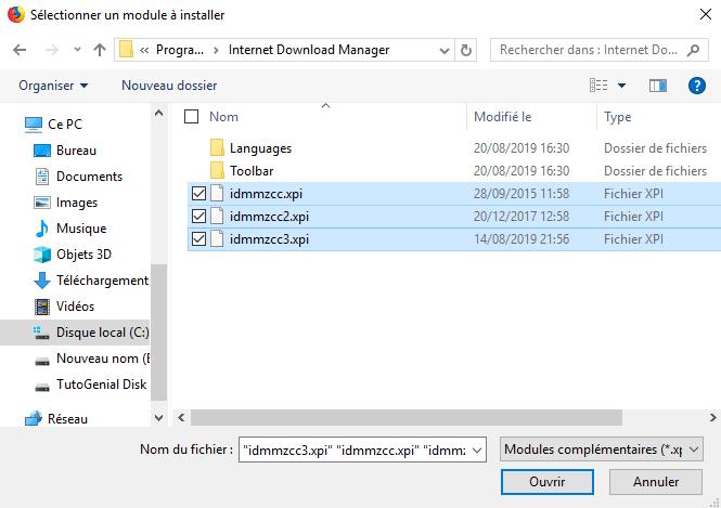 Sélectionnez le fichier qui vous convient !