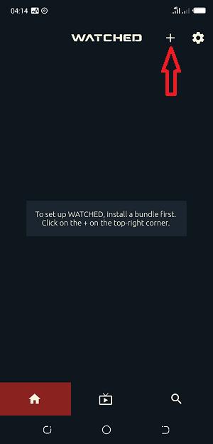 Cliquez sur le bouton + pour configurer Watched