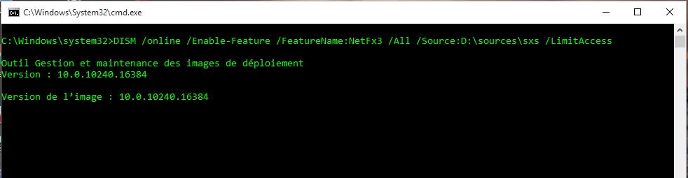 installation du Net Framework 3.5
