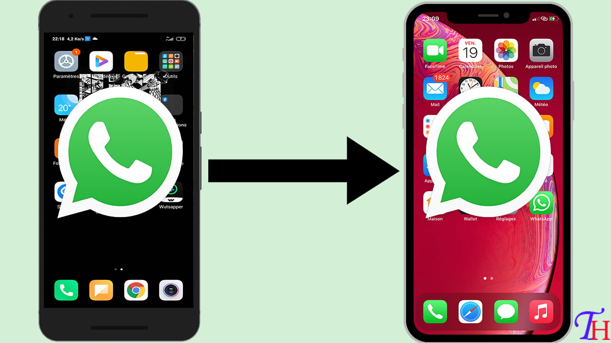 Transfert Whatsapp Android vers iPhone sans PC et vice versa