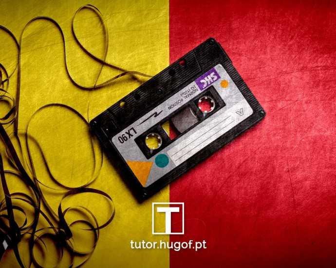 áudio som cassete