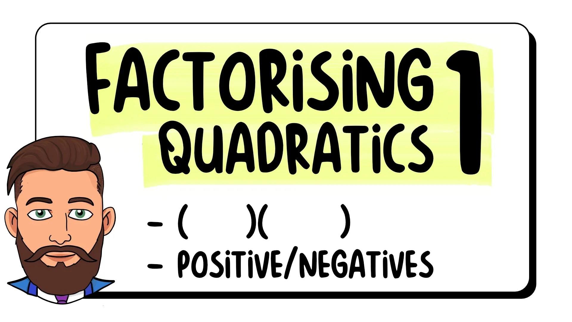 Factorising Quadratics 1
