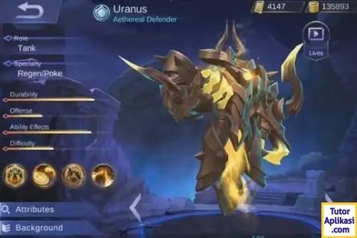 Guide Uranus (Skill, Build Item, Spell, Emblem) April 2018