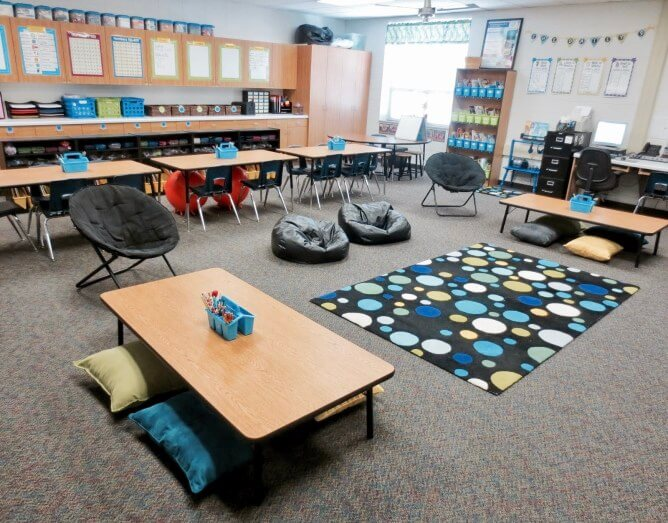 Aménagement flexible en classe