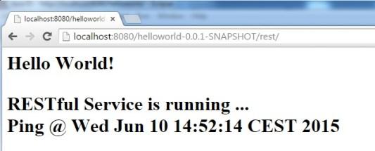 RESTful Webservice Running Browser