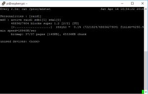 Check RAID assembly progress
