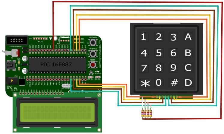 Project 17 – Interface with 4×4 keypad and 2×16 LCD