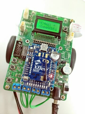 Remote Mobile Robot with XBee-WiFi (Android)