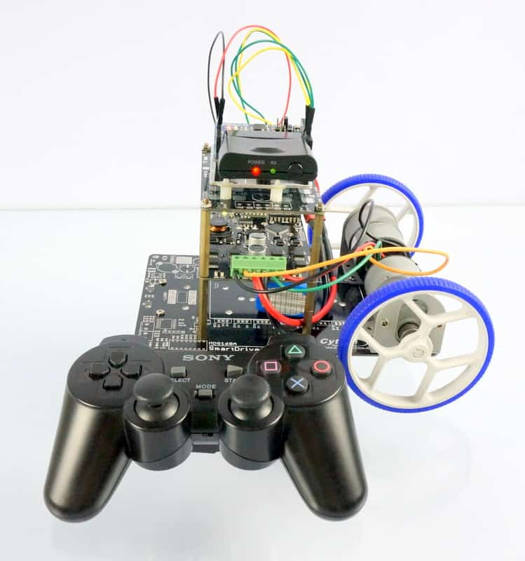 Arduino + PS2 shield + MDDS10 for mobile robot control