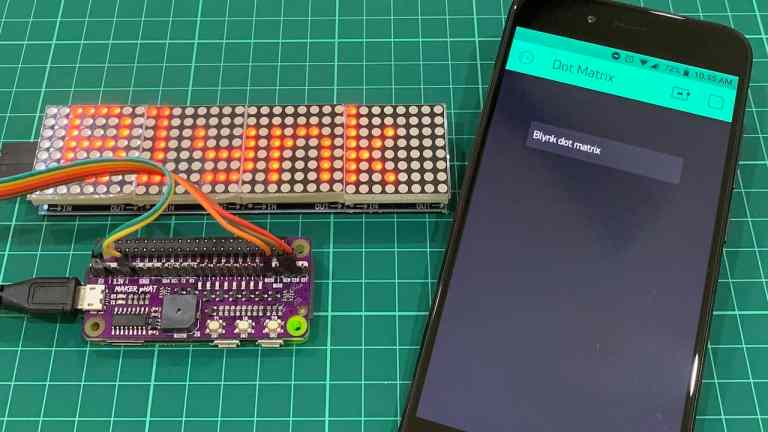 Displaying Text Message on Dot Matrix Using Blynk App and Raspberry Pi