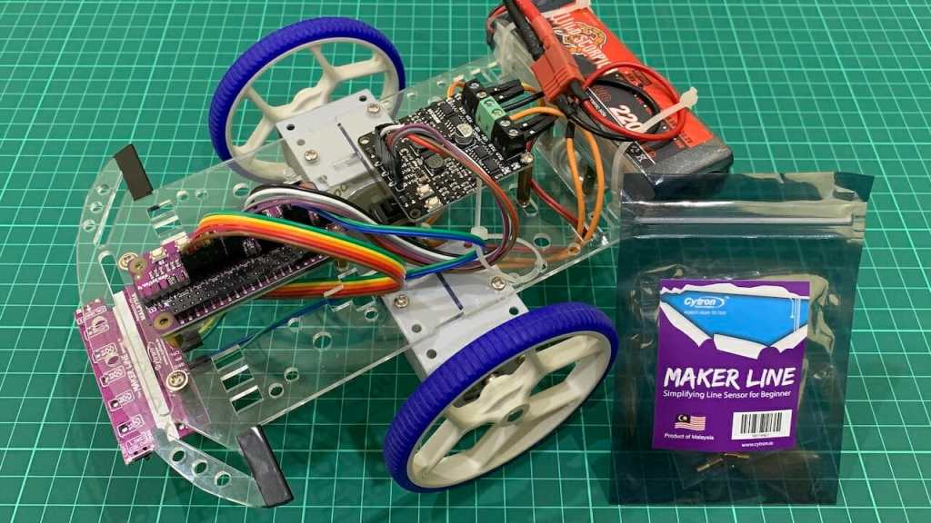 Raspberry Pi Line Following Robot with Maker Line
