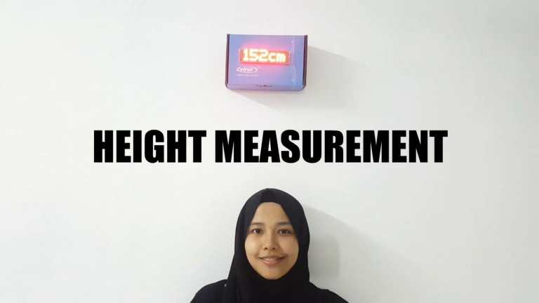 Height Measurement Using Ultrasonic Sensor and Dot Matrix on Maker UNO
