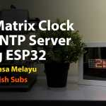 Esp32 Dot Matrix Ntp Clock Featured