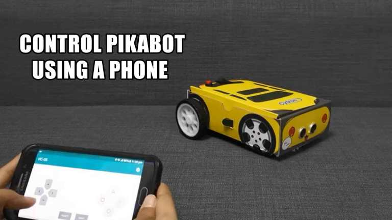 Control PikaBot Using a Phone Through Bluetooth