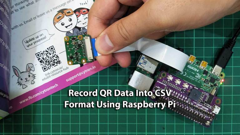Record QR Data Into CSV Format Using Raspberry Pi
