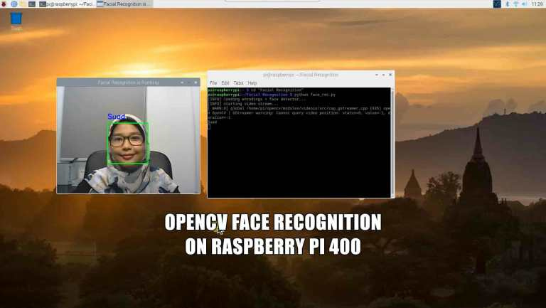 Face Recognition Using OpenCV on Raspberry Pi 400