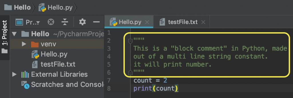 Python Multiline Comment Example