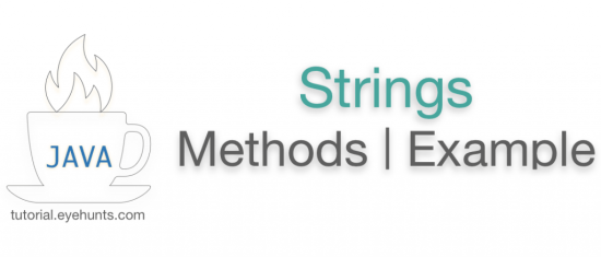 Java String Class Syntax Methods Examples