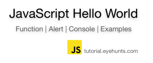 JavaScript Hello World | Alert Function | Print example