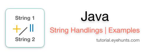 String Handling in Java