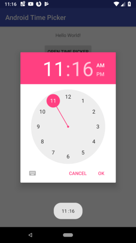 Android Time Picker Dialog | Example in Kotlin - Eyehunt