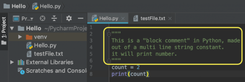 Python Comments Block Syntax | Multiline Comment Example
