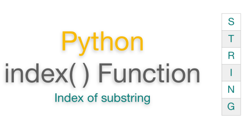 Python string index() Function | Get index of substring example
