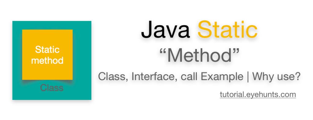 Java static method