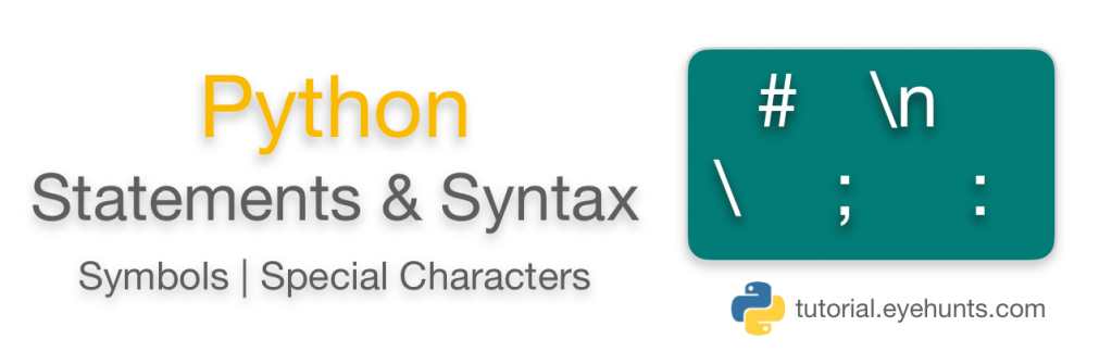 Python Statements and Syntax