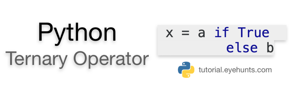 Python Ternary Operator conditional expressions