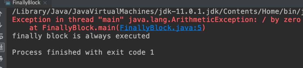 java try and finally blocks without a catch